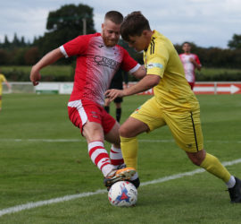 First-half - Sean Cooke on the ball under pressure