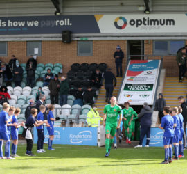 Pre-match - Dabbers captain Joel Stair leads out the players