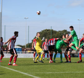 Second-half - Ben Harrison goes close with a header towards goal