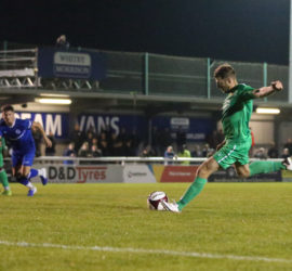 Second-half - first Nantwich goal - penalty - James Lawrie converts from the spot