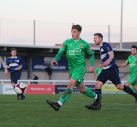 First-half - third Nantwich goal - Connor Heath chips opposition keeper for his second goal
