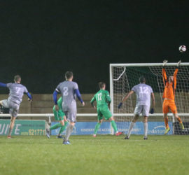 Second-half - Hanley Town shot is over the bar