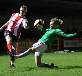 Second-half - Luke Walsh challenges for the ball