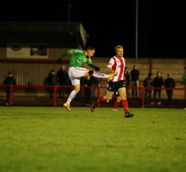 Witton Albion 2-5 Nantwich Town (Tues 15-12-2020) Buildbase FA Trophy Second Round - Curtis Miller shoots at goal (3)